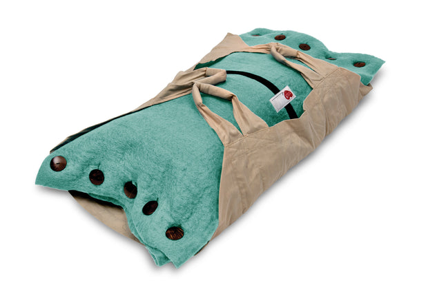 Sweet Goodbye COCOON™ (Premium Wool) - Pet Burial & Cremation Ceremony Kit | AQUA