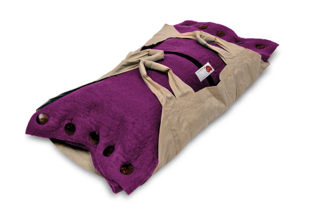 Sweet Goodbye COCOON™ (Premium Wool) - Pet Burial & Cremation Ceremony Kit | MAGENTA