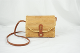 on a picnic date hard case rattan bag