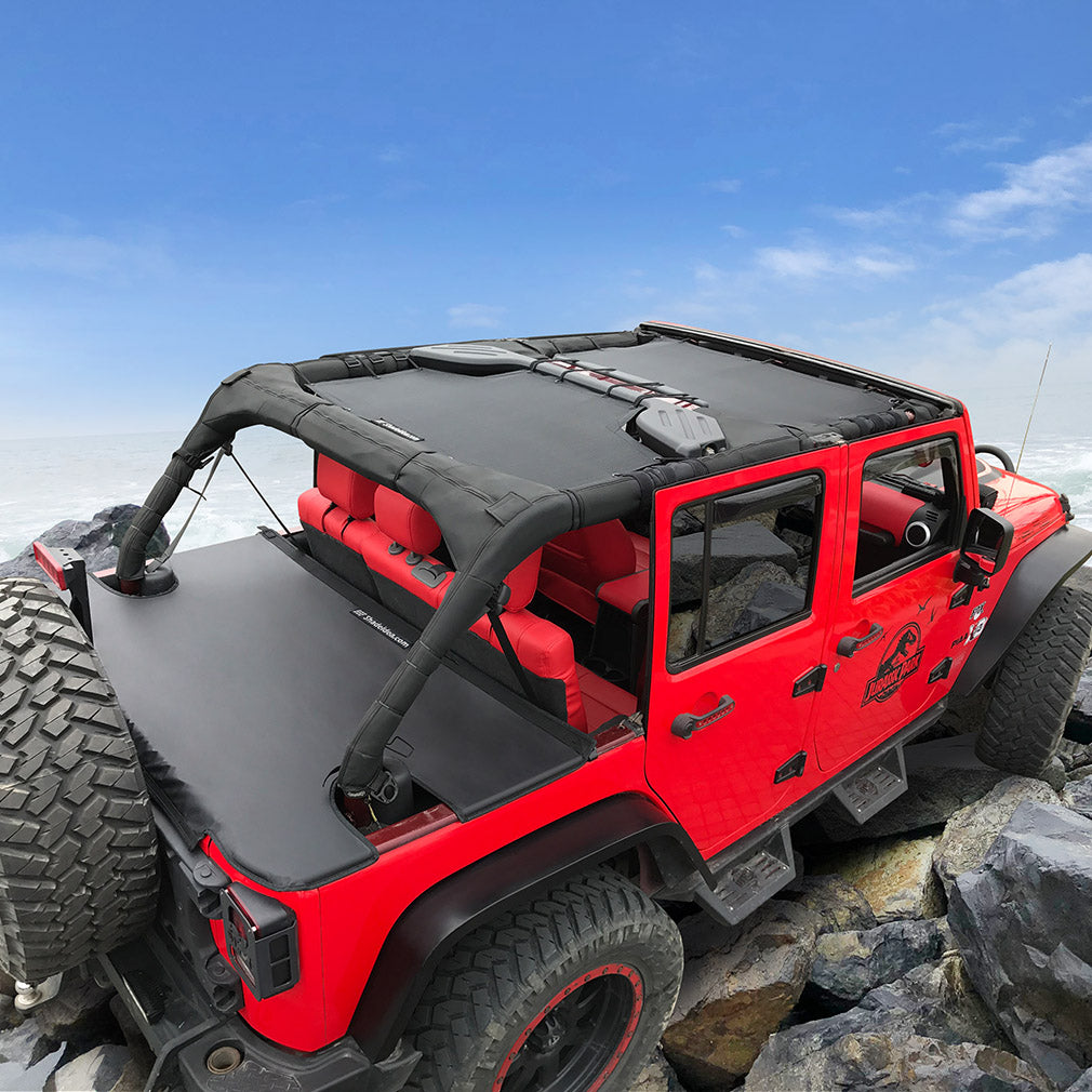 Jeep Wrangler Tonneau Cover Jk Unlimited 4 Door Rear Trunk Cover Cargo Shadeidea