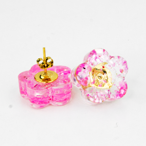 Sakura Earrings - front and back