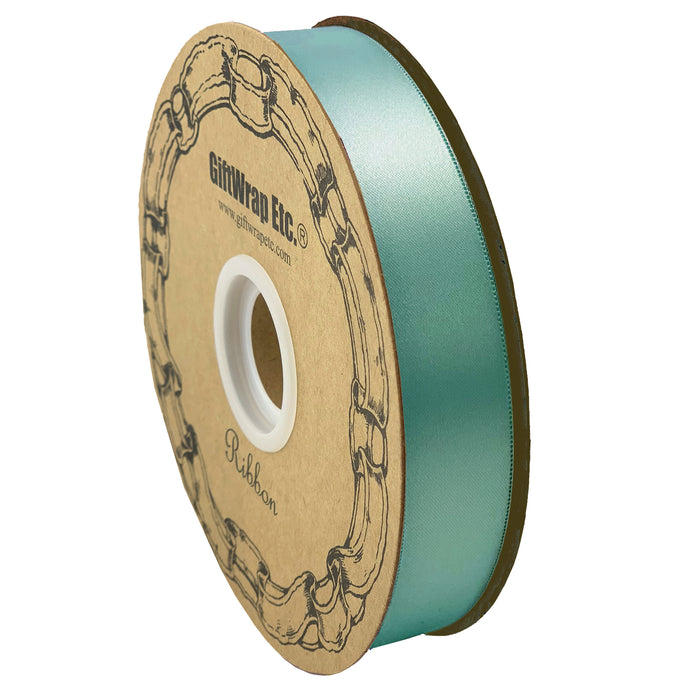 "Mint Green Satin Fabric Ribbon - 1"" x 100 Yards"