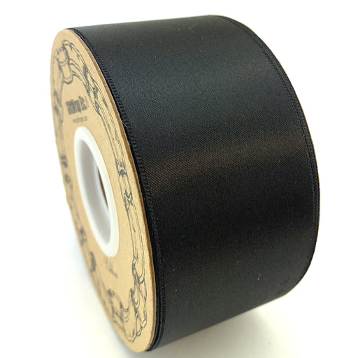 "Black Satin Fabric Halloween Ribbon - 2"" x 50 Yards"