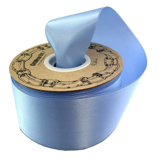 "Light Blue Satin Fabric Ribbon - 2"" x 50 Yards"
