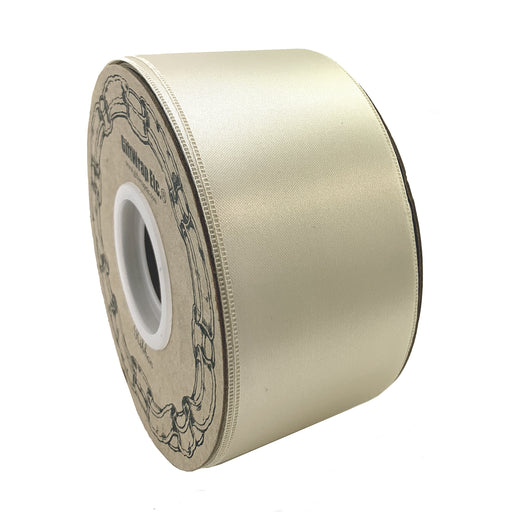 "Champagne Satin Fabric Wedding Ribbon - 2"" x 50 Yards"