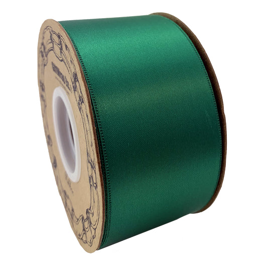 "Emerald Green Satin Fabric Ribbon - 2"" x 50 Yards"