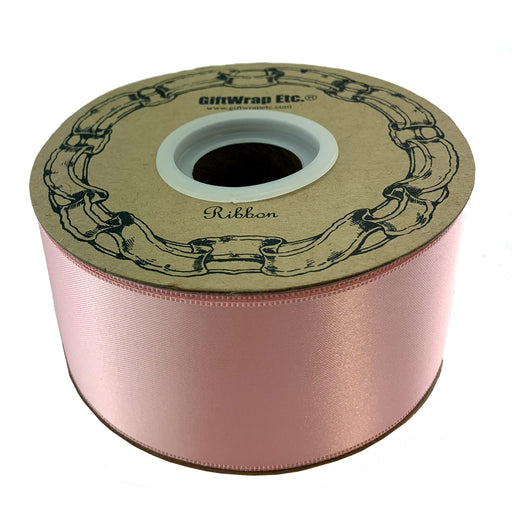 "Light Pink Satin Fabric Ribbon - 2"" x 50 Yards"