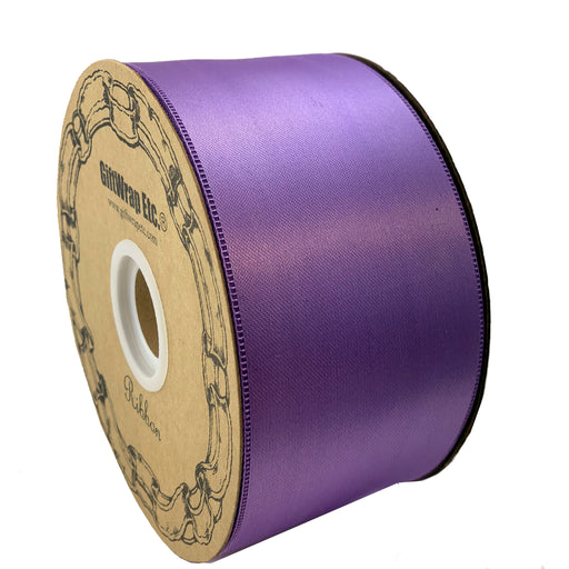 "Purple Satin Fabric Decorative Ribbon - 2"" x 50 Yards"