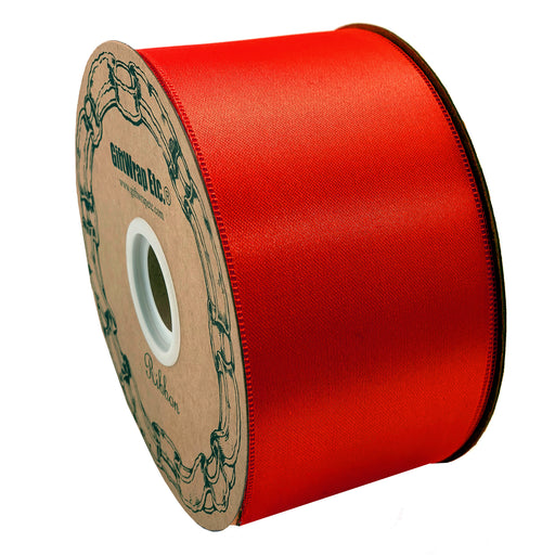 "Red Christmas Tree Ribbon Roll - 2"" x 50 Yards"