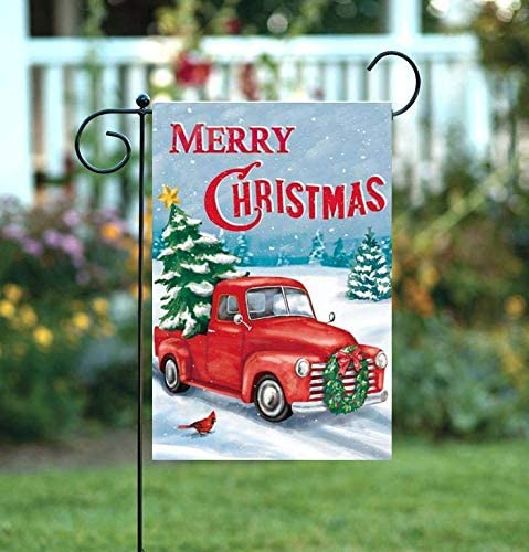 "Merry Christmas Pickup Truck Garden Flag - 12"" x 18"""