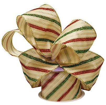 "Holiday Wired Christmas Tree Ribbon - 2 1/2"" x 10 Yards"