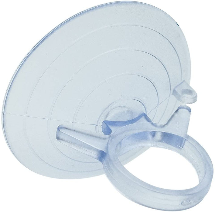 Clear Plastic Suction Cups with Loops - 4.5 cm (1.75 in) Wide, Set of 10