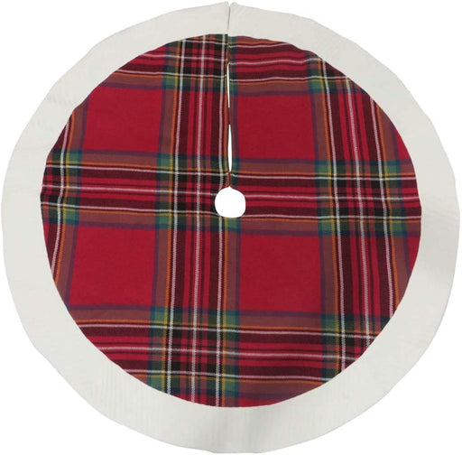 "Holiday Tartan Christmas Tree Skirt - 48"" Diameter"