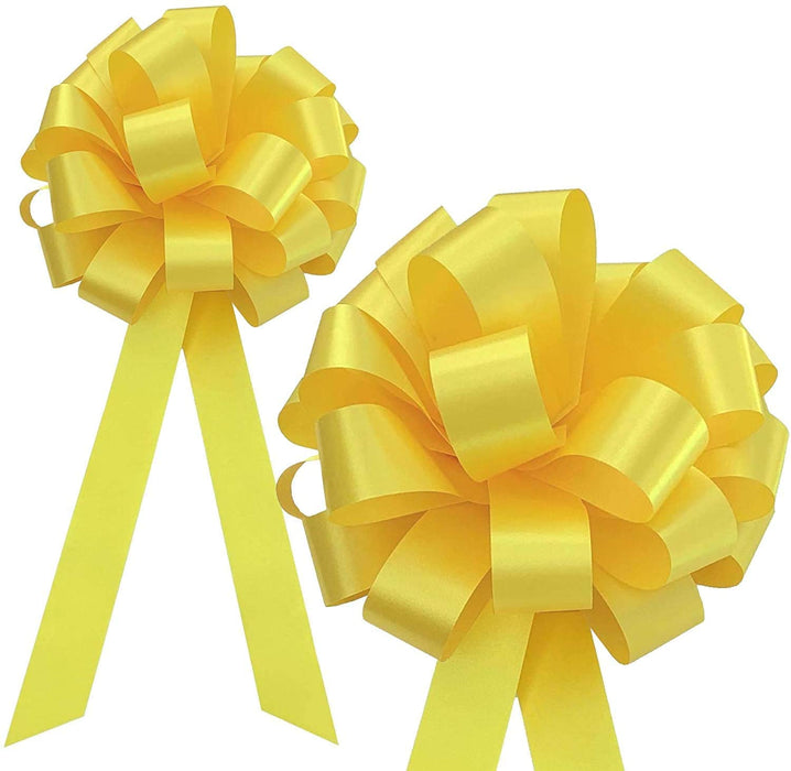 Yellow-Wedding-Pull-Bows
