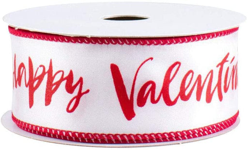 "Happy Valentine's Day Wired Ribbon - 1 1/2"" x 10 Yards"