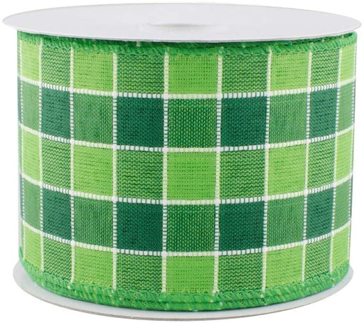 Green-White-Gingham-Ribbon