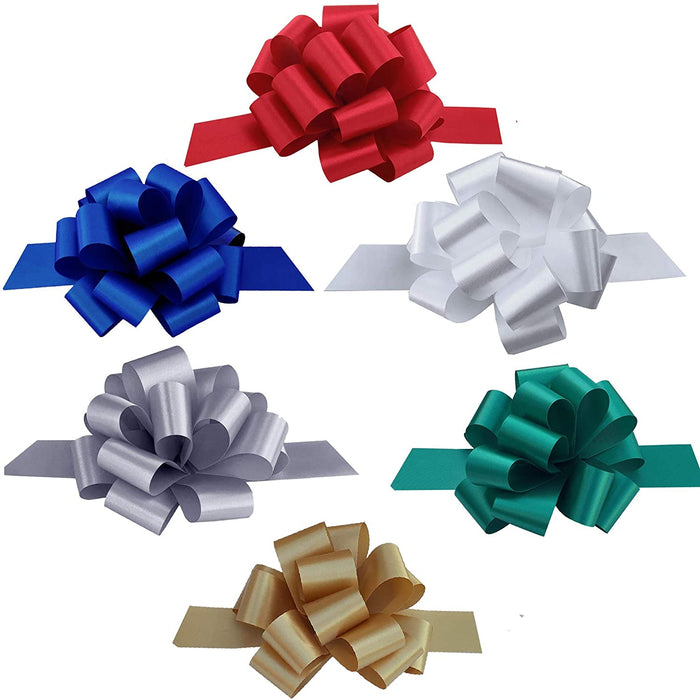 "Gift Pull Bows Variety Pack - 5"" Wide, Set of 30"