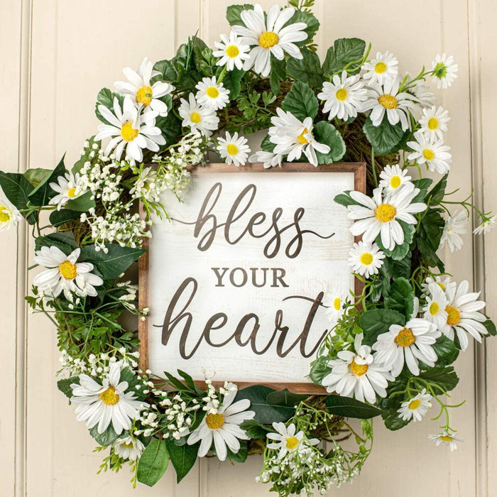 "Bless Your Heart Decor Sign - 10"" x 10"""