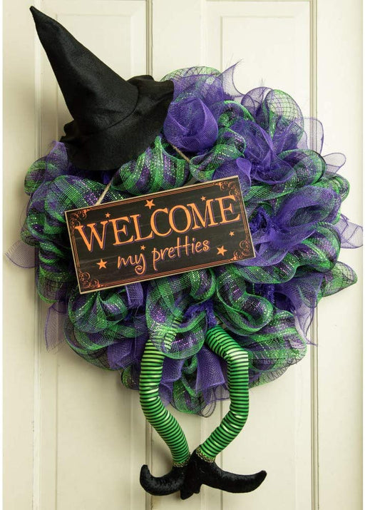 "Welcome My Pretties Wooden Sign - 12"" x 6"""