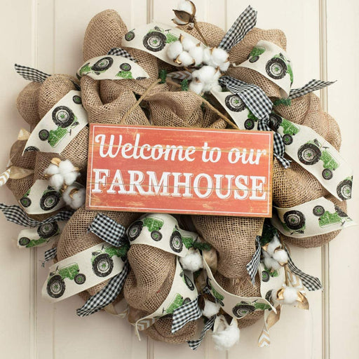 "Welcome to Our Farmhouse Sign - 12.5"" x 6"""