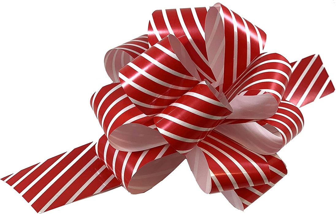 "Christmas Gift Wrap Pull Bows - 5"" Wide, Set of 9"