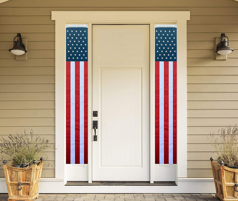 "Hanging Patriotic American Flag Banners - 12"" x 72"""