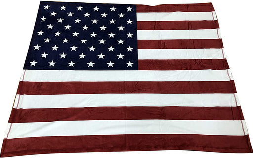 "Patriotic Throw Blanket for Couch - 50"" x 60"", American Flag"