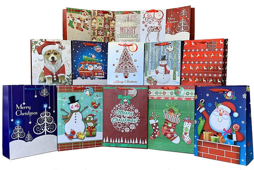 Christmas Bags Assorted Sizes - Set of 15