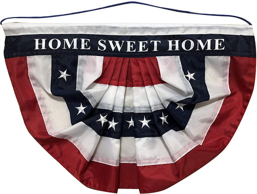 "Home Sweet Home Patriotic Bunting Flag - 10"" x 16""- Door Decoration"
