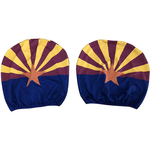 Arizona Headrest Covers for Cars - Set of 2, Arizona State Flag