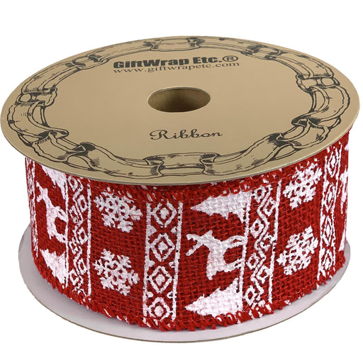 "Fair Isle Christmas Tree Ribbon - 2 1/2"" x 10 Yards"