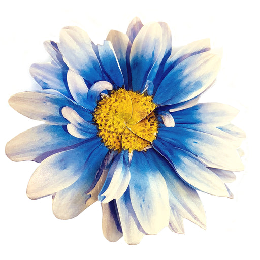 "Royal Blue 3-D Flower Pop Up Cards - 4"" Wide, Set of 6"