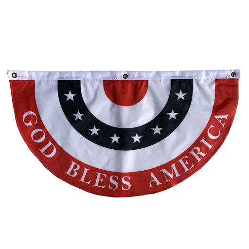 "God Bless America Bunting Flag – 18"" x 36"", American Flag"