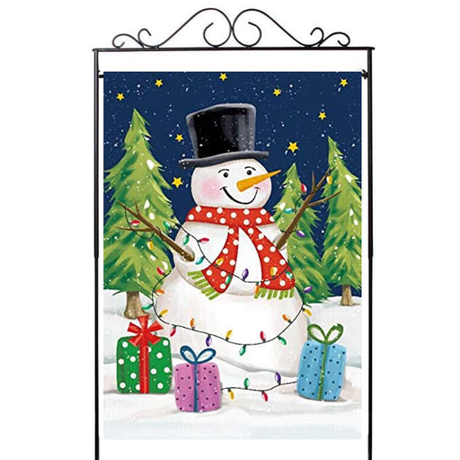 "Decorative Christmas House Flag Snowman - 28""x40"""