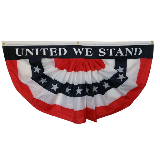 Veteran's Day Bunting Fan Flag - Large 3 ft by 6 ft