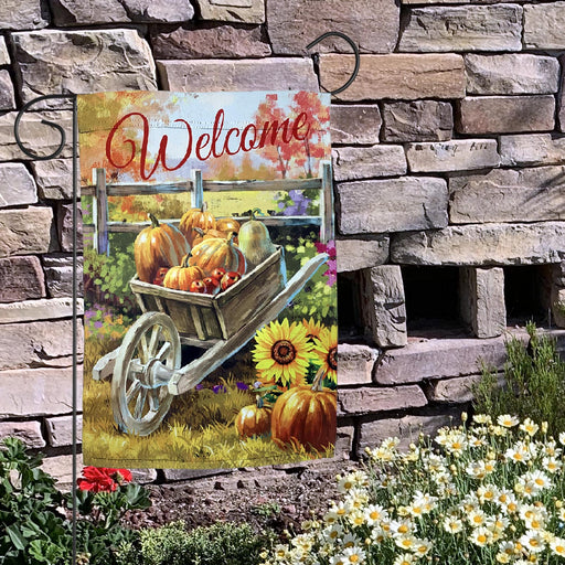 "Fall Harvest Welcome Garden Flag – 12""x18"""