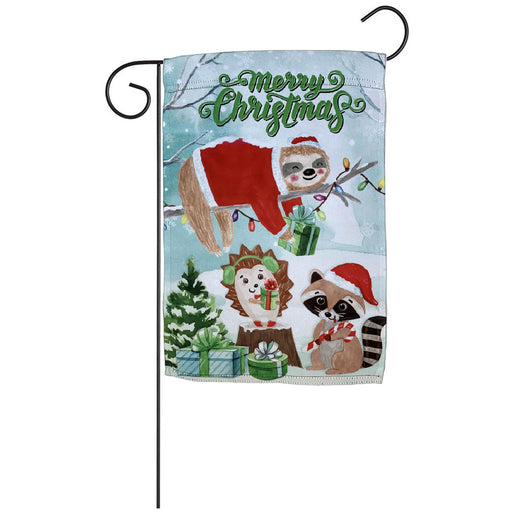 "Merry Christmas Critters Garden Flag 12"" x 18"""