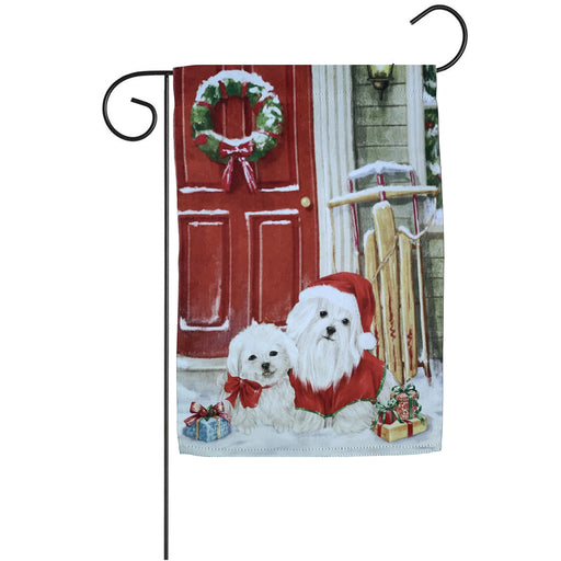 "Christmas Dogs Winter Garden Flag - 12"" x 18"""