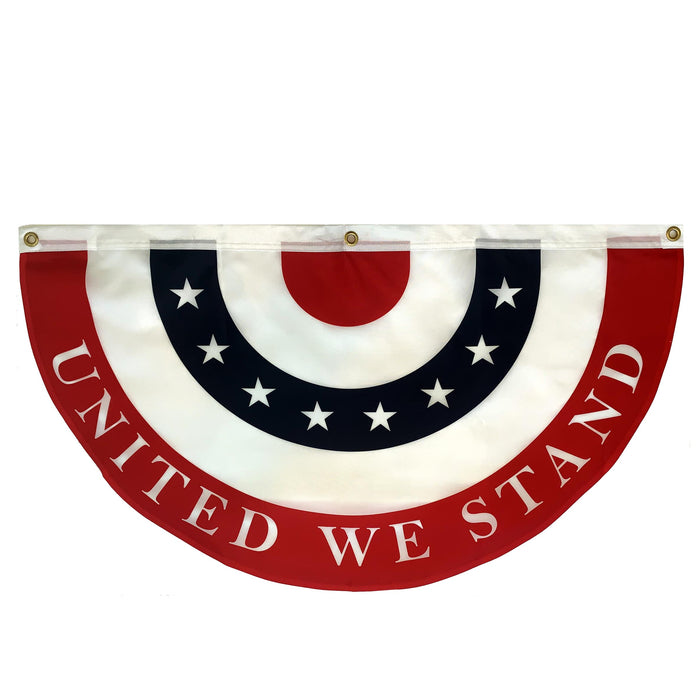 "United We Stand Bunting Flag – 18"" x 36"", American Flag"