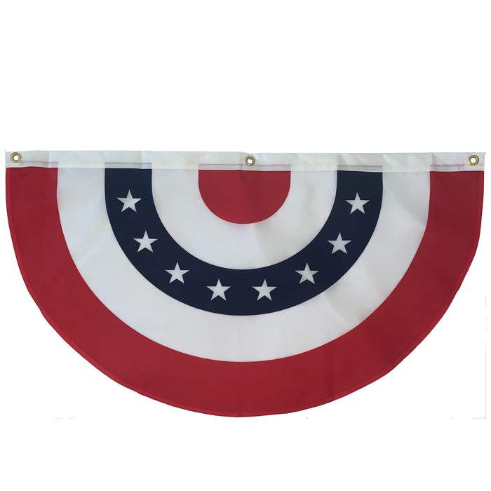 "Stars and Stripes Bunting Flag – 18"" x 36"", American Flag"
