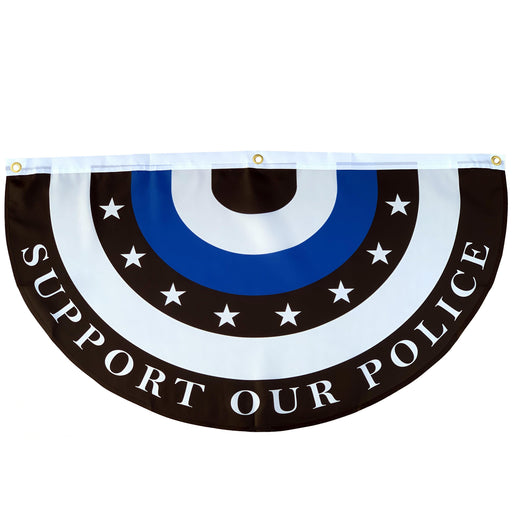 "Support Our Police Bunting Flag – 18"" x 36"""