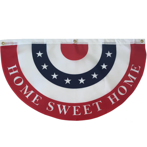 "Home Sweet Home Bunting Flag – 18"" x 36"", American Flag"