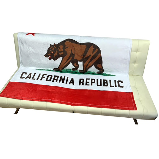 "California Flag Throw Blanket for Couch - 50"" x 60"", Bear Flag"
