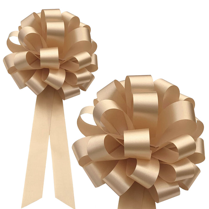 "Wedding Pew or Gift Wrapping Pull Bows - 8"" Wide, Set of 6"