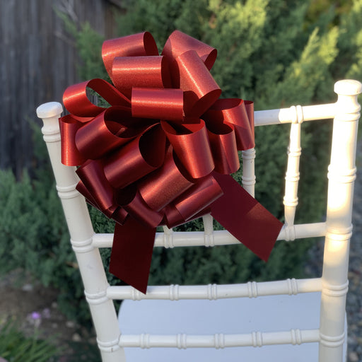 large-burgundy-wedding-chair-decorations