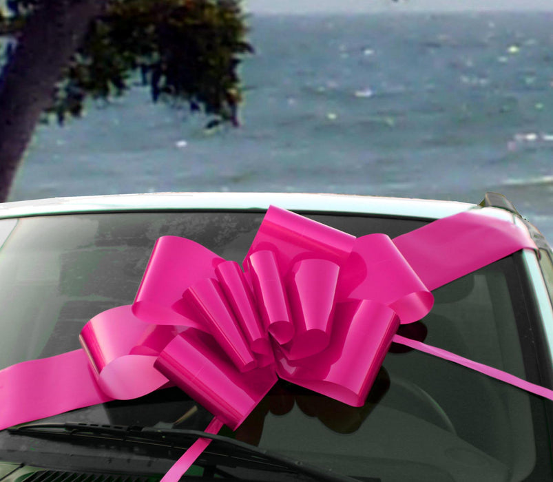 "Big Hot Pink Car Bow - 25"" Wide"
