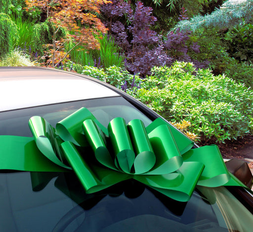 "Big Emerald Green Car Bow - 25"" Wide"