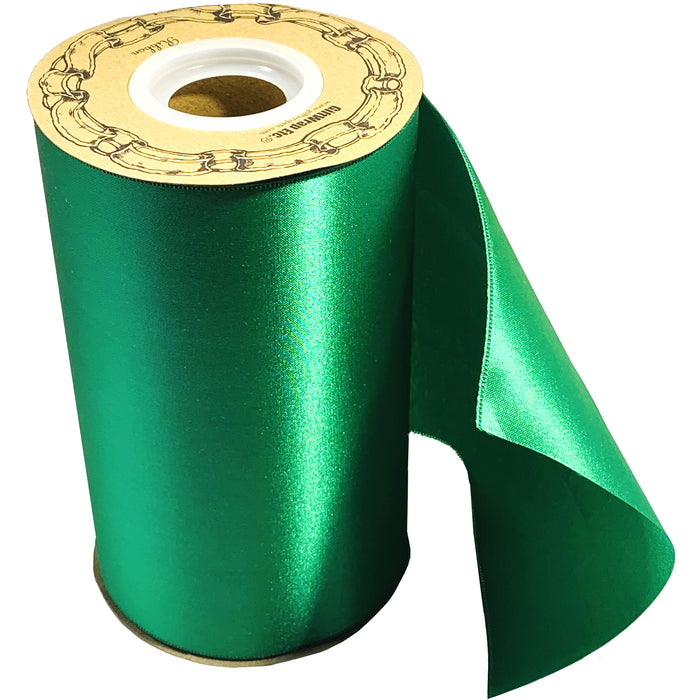"Grand Opening Ceremony Green Ribbon - 6"" x 25 Yards"