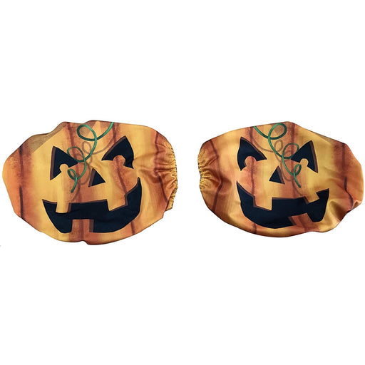 Halloween Side Mirror Covers for Cars - Set of 2, Jack-O-Lantern