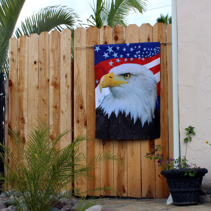 "Bald Eagle Patriotic House Flag - 28""x40"""